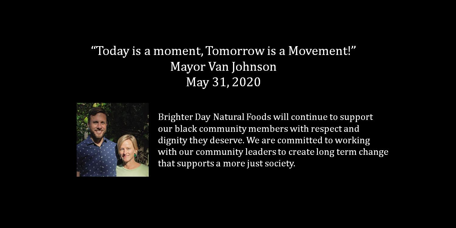 Brighter Day Natural Foods New Mayor Quote Slider Image